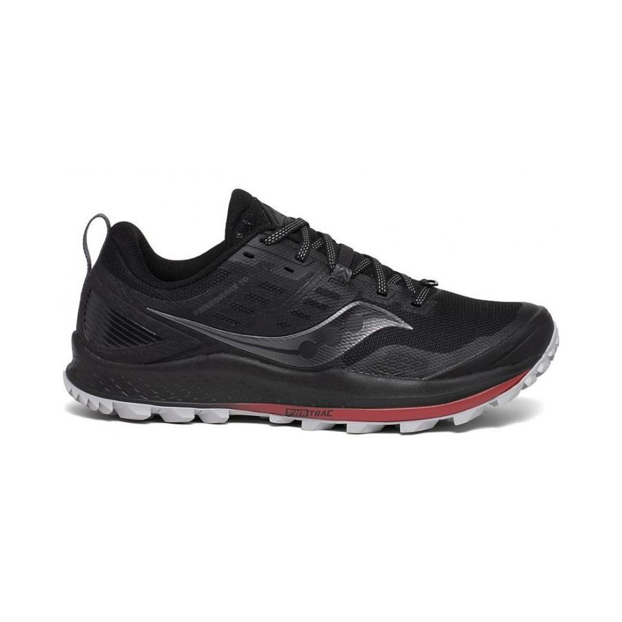 SAUCONY - PEREGRINE 10 BLACK/RED - MEN