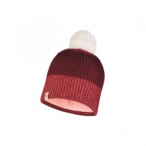 BUFF - JR KNITTED & POLAR HAT AUDNY WINE - BOYS