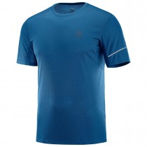 SALOMON - AGILE SS TEE M POSEIDON - MEN