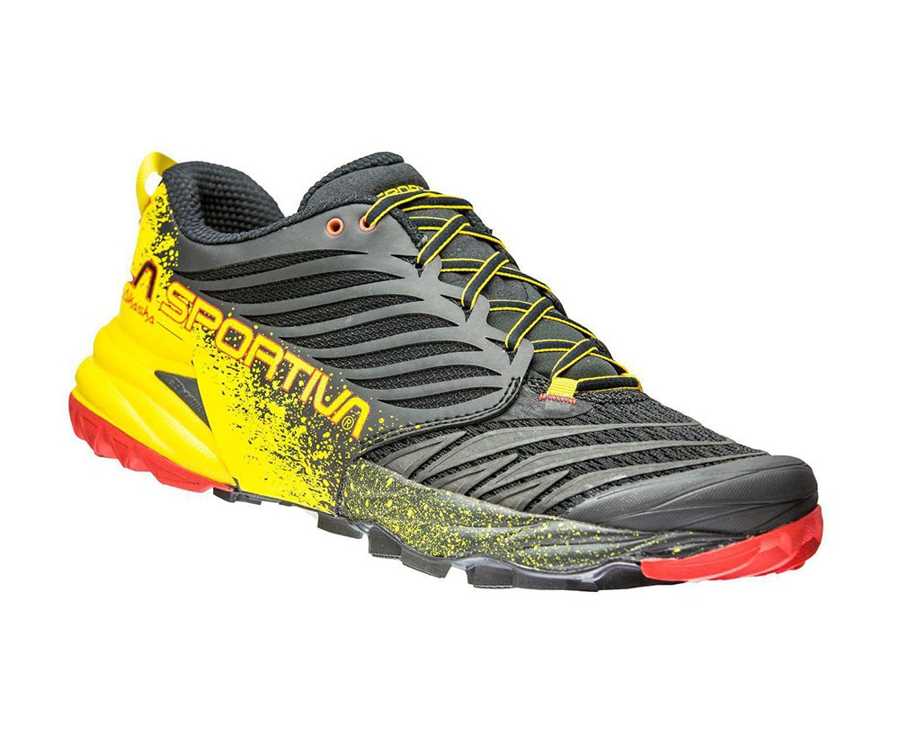 LA SPORTIVA - AKASHA BLACK/YELLOW - MEN