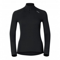 ODLO - SHIRT L/S TURTLE NECK 1/2 ZIP 152001 15000 - WOMEN